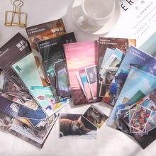 Mohamm série de viagens e papel adesivo pacote manual diário adesivo decorativo scrapbooking papel diy artesanato papelaria