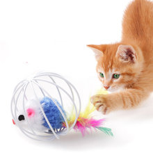 Kawaii Plush Mouse for Cat Pet Kitten Plastic Wear Resistant Durable Amusement Ball Toys for Training Pet Supplies Cat Toys solid color wood wear resistant durable chew toys for pet cat amusement intelligent cat toys interactive pet supplies kitten