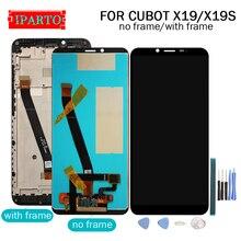 5.93 אינץ CUBOT X19 LCD תצוגה + מסך מגע Digitizer + מסגרת עצרת 100% מקורי חדש LCD + מגע Digitizer עבור CUBOT X19S
