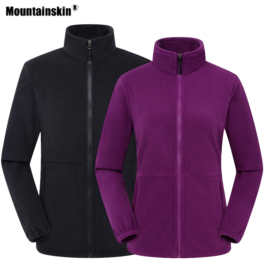 Mountainskin Men Women's Fleece Hiking Thermal Jacket Outdoor Sports Climbing Trekking Camping Windbreaker Male Warm Coats VA624