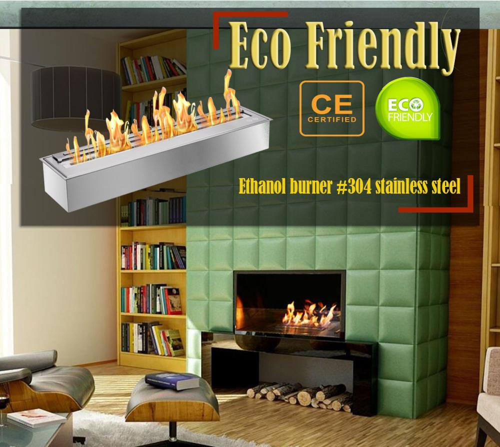 Inno Living Fire  36 Inch Indoor Ethanol Burner Stainless Steel Ethanol Fireplace
