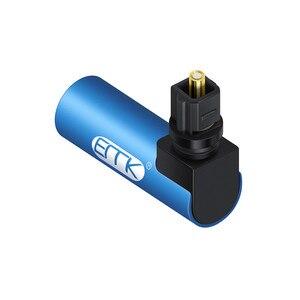 Image 4 - EMK Adaptador de Cable de sonido óptico de 90 grados, ángulo recto, conector óptico SPDIF Toslink, giratorio 360 para Soundbox
