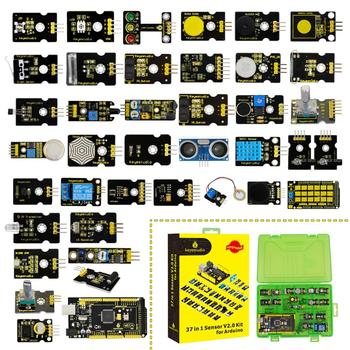 2019 NEW!Keyestudio New Sensor Starter Kit V2.0  37 in 1 Box With (Mega 2560 Board) for Arduino Kit недорого