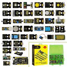 ¡Novedad de 2019! Kit de iniciación con Sensor keyestudi, caja V2.0 37 en 1 con (placa Mega 2560) para Kit Arduino