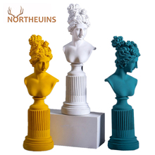 NORTHEUINS Resin Freya Goddess Statuettes Modern Women Figurines Living Room Interior Home Decor on the Shelf Desk Decoration