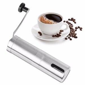 Image 3 - Manual Coffee Grinder Coffee Maker ceramics Core 304 Stainless Steel Hand Burr Mill Grinder Ceramic Corn Coffee Grinding Machine