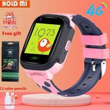 4g crianças relógio inteligente ip67 à prova dip67 água smartwatch gps wifi rastreador câmera chamada de vídeo para o bebê y95 pk a36e