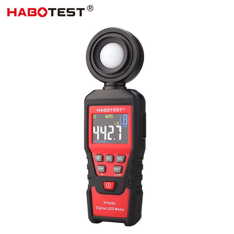 Habotest HT620L Luxmeter Digitale Lichtmeter Lux Meter Photometer Uv Radiometer Lcd Luxmeter Handheld Illuminometer Photometerka