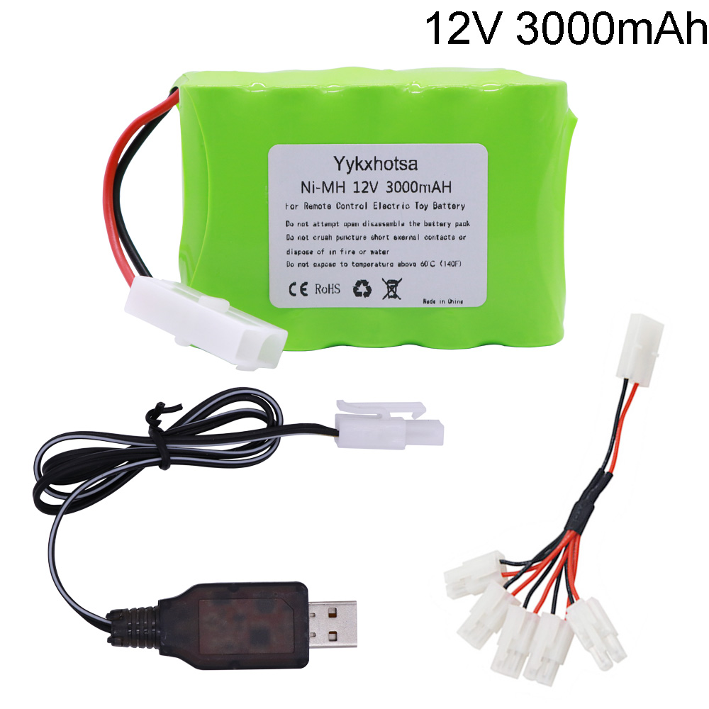 <font><b>12V</b></font> 3000mAh NI-MH <font><b>battery</b></font> Tamiya Plug with USB charger set 10x <font><b>AA</b></font> Ni-MH <font><b>Battery</b></font> <font><b>Pack</b></font> for RC electric toys RC cars trucks boats image