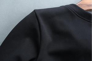 Image 4 - بلوفر رجالي بغطاء للرأس موضة ربيع وخريف 2019 جديد أكثر مبيعاً بلوفر رجالي من القطن بتصميم مرصع بالألماس