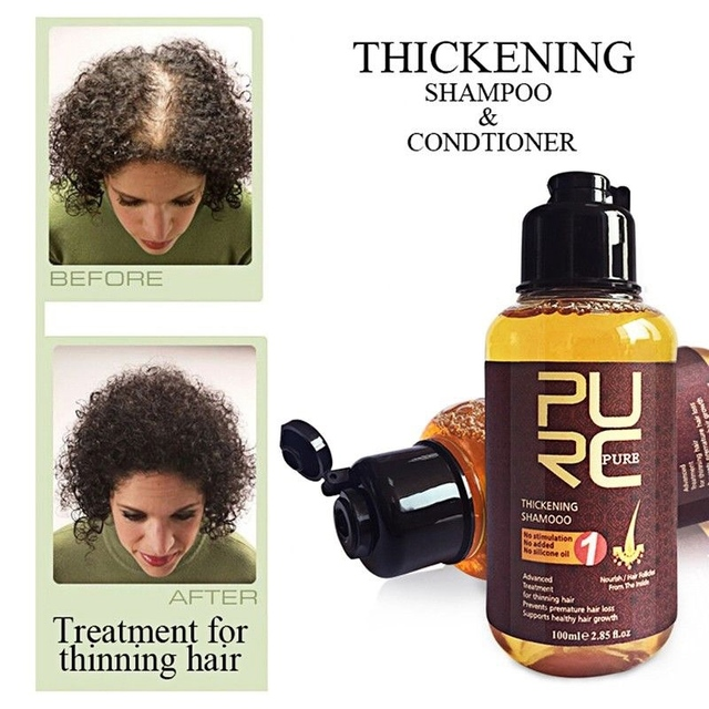 PURC Anti-Loss hair Shampoo 100ml Thickening Shampoo Hair Growth Essence Oil Hair Loss Treatment Hair Regrowth Hair Care Product