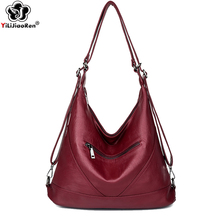 Large Pocket Casual Women Handbag New Elegant Shoulder Bag Luxury Hobos Tote Famous Brand Soft Leather Ladies