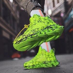 Image 4 - Осенне зимняя обувь, мужская спортивная обувь для улицы, Мужская Баскетбольная обувь, граффити, Гао Банг, увеличивающая рост, мужская повседневная обувь