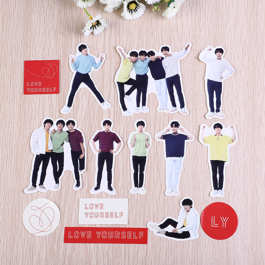 Stickers BTS Stickers Diary Stickers Stationery Stickers 18PCS MTZ187-188-67 Skateboard Stickers Suitcase Stickers Stickers