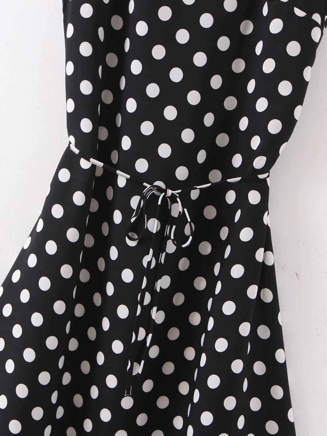 Toppies בציר קלאסי שחור מנוקדת שמלת קיץ slim אונליין midi שמלת נשים תחרה עד מותן vestidos