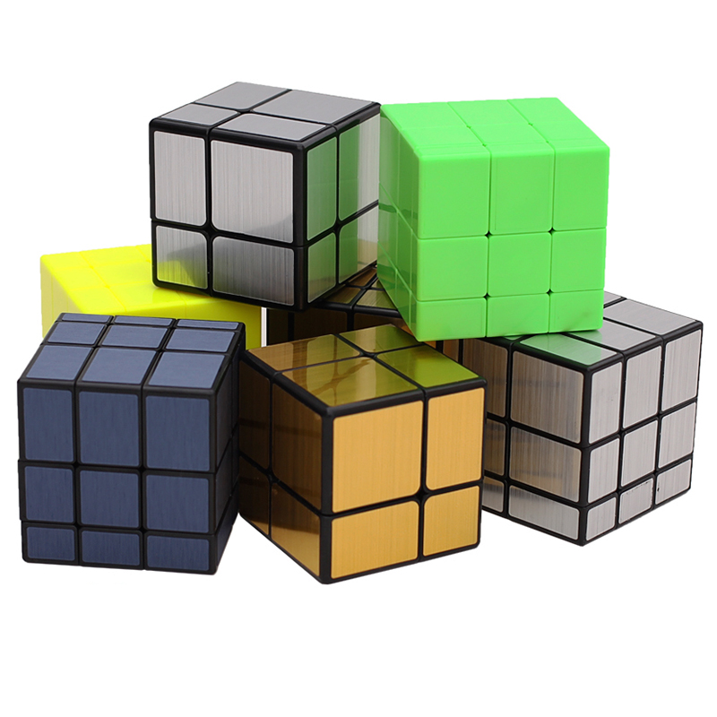 New Qiyi 3x3 Magic Mirror Cube Puzzle 3x3x3 2x2 Silver Gold Stickers Speed Cubes Professional Learning Toys For Children Gift