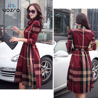VOZRO Elegant Clothes For In Long And Sleeves, Collars Are Back, Women In Tall Winter Maxi Party Dress Vestidos Dresses Vintage
