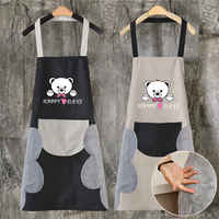 Abrasion Hand Apron Female Waterproof And Oil-proof Hooded Kitchen Sleeveless Overalls Hanging Neck Easy To Take Off CB4518/O