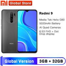 Globalna wersja Redmi 9 NFC 3GB 32GB Smartphone octa-core Media Tek Helio G80 13MP tylna kamera 5020mAh type-c 6 53 #8243 tanie tanio XIAOMI Nie odpinany Inne CN (pochodzenie) Android Rozpoznawania linii papilarnych Szybkie ładowanie 3 0 english Rosyjski