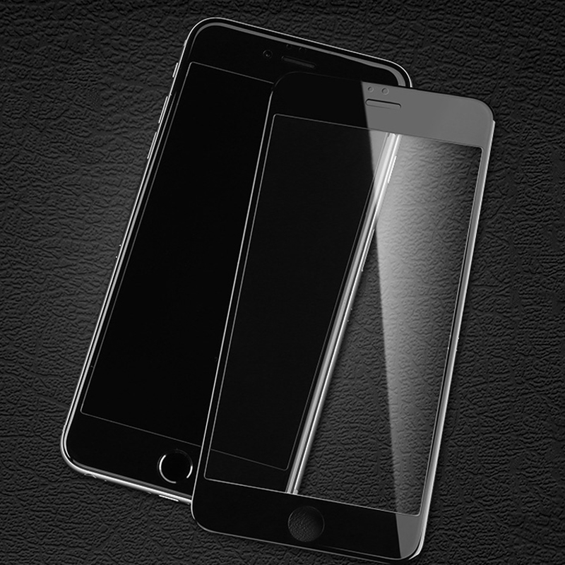 2 Pcs 9D Curved Edge Protective Tempered Glass For Iphone 7 8 6S 6 Plus Glass On Iphone 7Plus 8Plus Screen Protector Film Case