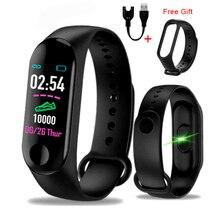 M3 Plus Smart Bracelet Heart Rate Blood Pressure Health Waterproof Watch Pro Bluetooth B