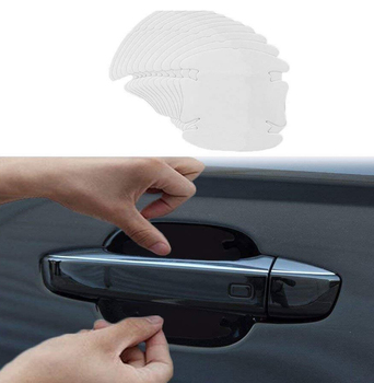 4pcs/lot Car-styling Door Handle Protection sticker for vw polo mazda 3 opel astra h bmw e39 w5w h4 h7 subaru skoda passat b5 image