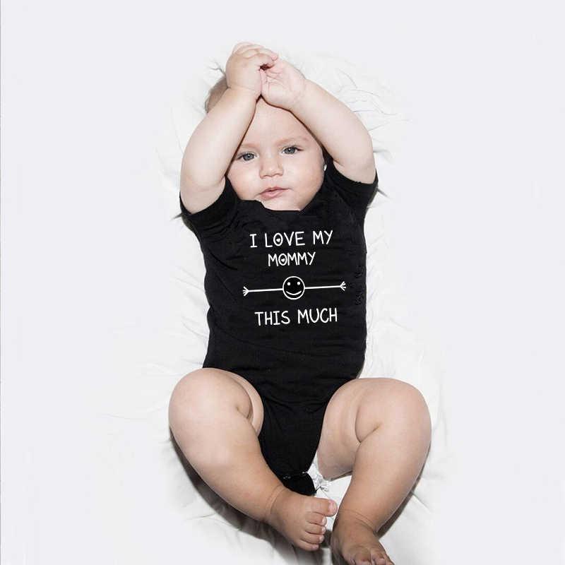 1 unidad, amo a mi mamá/hija, esta gran ropa a juego para la familia, mamá, niños, niña, camiseta, Mono para bebé, camisa divertida con apariencia familiar