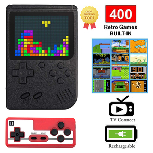 2020 New Mini 400 IN 1 Retro Game Console Handheld Game Player 3.0 Inch 8 Bit Pocket Game Console for Kids Gift