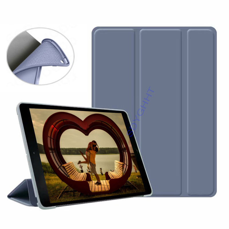 Lavender 2 Silver 2020 case For iPad 10 2 inch 8th 7th Generation model A2270 A2428 Silicone soft bottom
