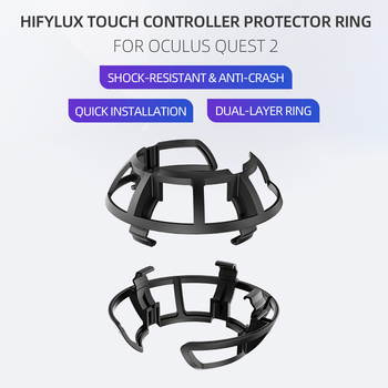 1 Pair Anti-Collision VR Controller Ring Bumper Frame Cover for Oculus Quest 2 Grip Handle Protective Accessories 1