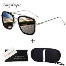 Luxury Steampunk Men Sunglasses Tony Stark Iron Man Sun Glasses Vintage Metal Eyewear Case Box Punk Sunglasses UV400 Male Gafas компрессор автомобильный zipower 160w