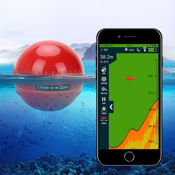 Erchang Fish Finder Portable Wireless Sonar Sensor Transducer Detector Fish Finder Bluetooth Echo Sounder Fish Finders Fishing цена 2017