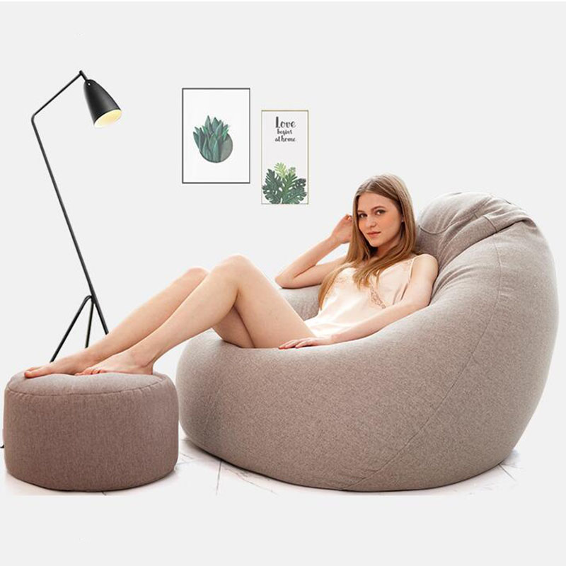 Big Bean Bag Chair With Filling Stuffed Animal Storage Beanbag Sofa Lounger With Filler BeanBag Bed For Adults Bedroom Furniture