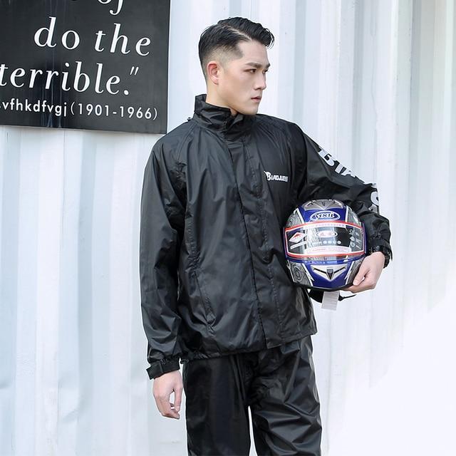 Motorcycle Raincoat Male Riding Split Waterproof Storm Rain Coat Pants Set  Jacket Rainwear Capa De Chuva Motoqueiro Gift Ideas