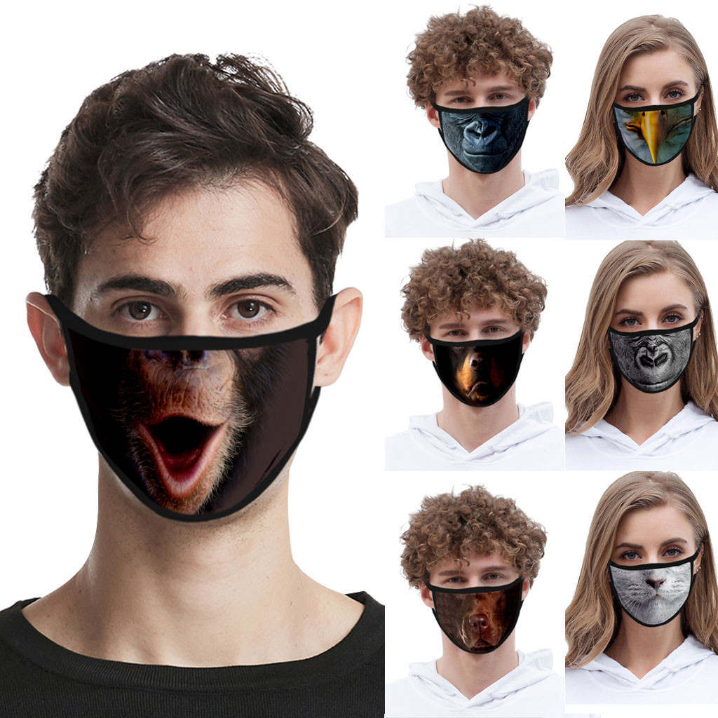 Funny Animal Printed Breathable Reusable Face Maske Filter PM2.5 Air Filtration Mouth Maske Anti Pollution Maske Respirator