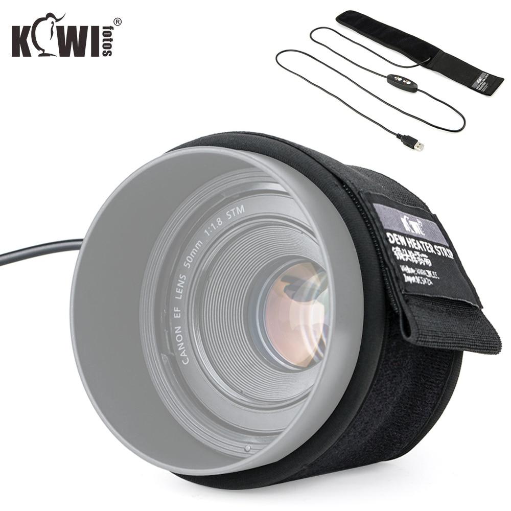 Lens Heater Evening Dew Remover USB Warmer For Nikon Canon Sony Olympus Sigma Fujifilm Lens Telescopes Condensation Prevention