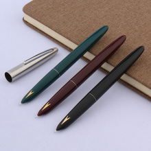 High quality silver Arrows hero 329-a decorated gift classic Style plastic Gold label student Finance Fountain Pen Supplies