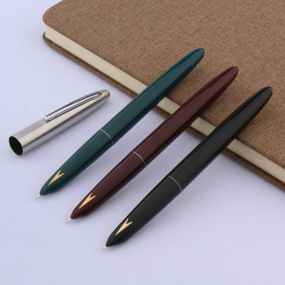 Office Silver Arrows Hero 329-a Decorated Gift Classic Style Plastic Gold Label Student Finance Fountain Pen