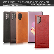 Pierre Cardin Hot Sale Genuine Leather For Samsung Galaxy Note 10 Plus 5G Note10  Case Vintage Slim Hard Back Cover Anti fall
