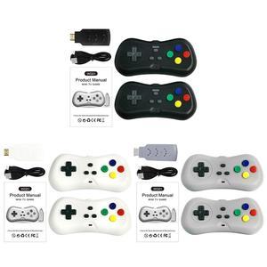 Image 2 - 2 لاعبين 1080P اللاسلكية التلفزيون لعبة فيديو وحدة التحكم مع 638 ألعاب صغيرة مزدوجة غمبد