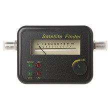 SF9504 Mini Sensitive Meter Buzzer wyświetlacz LCD wyszukiwanie odbiornik telewizji cyfrowej DC 13 18V przenośny lokalizator sygnału satelitarnego Tester