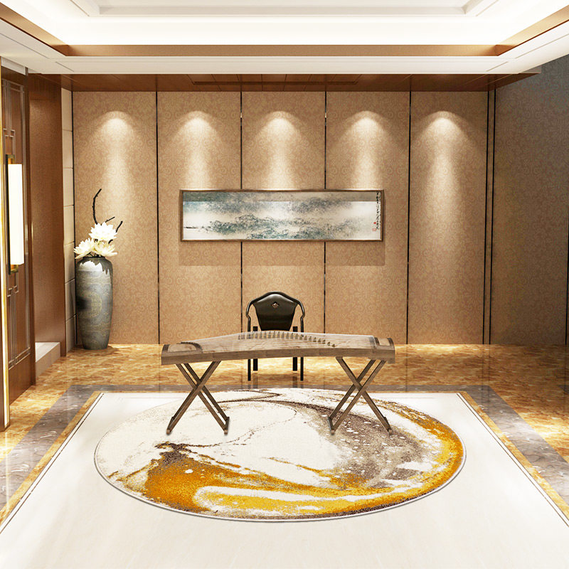 Современный круглый ковер гостиная Скандинавская спальня ковер компьютерный стул круглый коврик Диванный кофейный столик пол коврик прикроватные коврики