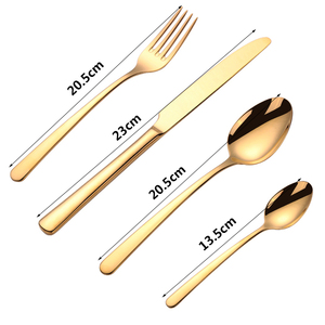 Image 2 - 16PCS 식기 세트 스테인레스 스틸 칼 붙이 세트 포크 스푼 특종 나이프 식기 세트 주방 식기 주방 바베큐 도구
