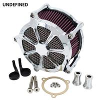 Chrome CNC Motorcycle Air Cleaner Intake Filter for Harley Touring Electra Glide Road King Street Glide 08 16 Dyna FXDLS Softail