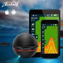 Erchang xa02 sem fio inventor de peixes 48m/160ft profundidade sonar sonar para pesca ios & android rússia armazém