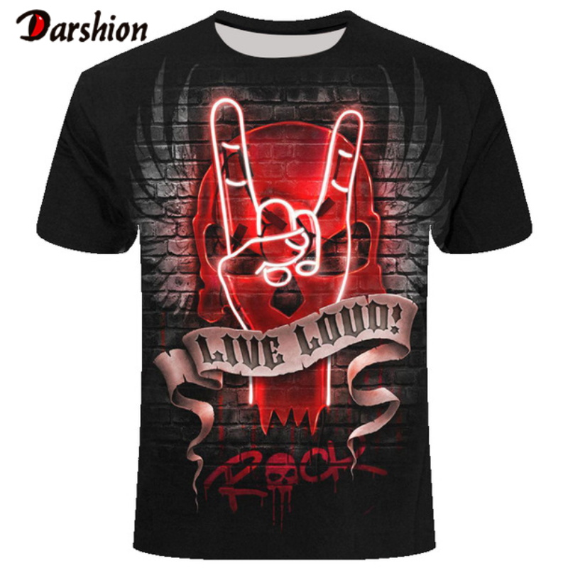 Summer New Funny 3d Victory Gesture T Shirts Summer Hipster Short Sleeve Tee Tops Men T-Shirt Homme Short Sleeves Tops Dropship