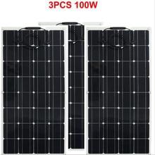300w solar panel 3pcs of 100w panel solar Monocrystalline solar cell 12v solar battery charger for RV/boat/car