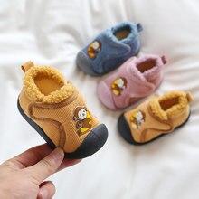 Snow-Boots Outdoor-Shoes Baby-Girls Winter Kids Infant Warm Plush Soft-Bottom Cartoon