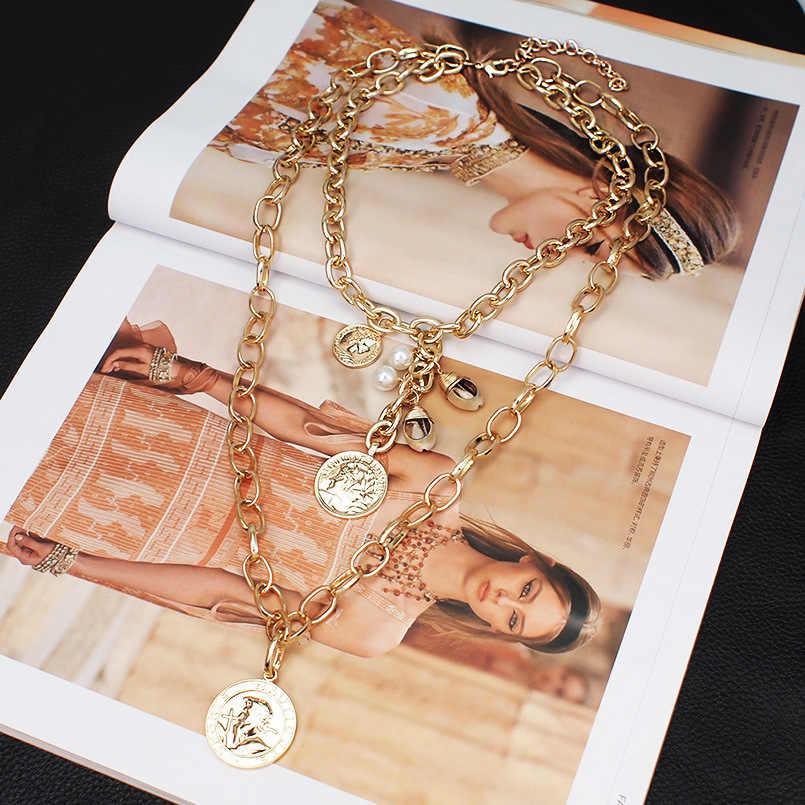 Punk przesadne metali ciężkich duży gruby choker łańcuszek naszyjnik kobiety Goth moda noc klub biżuteria kobiet choker Collier