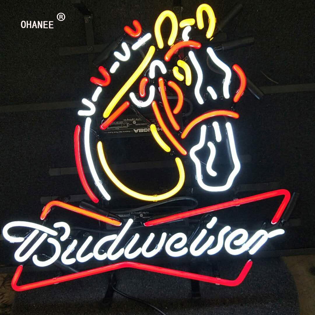 Budweiser Neon Sign Light Real Gl